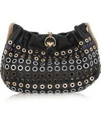 Sonia Rykiel Domino Embellished Leather Shoulder Bag - Lyst