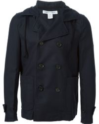 Comme Des Garçons Double Breasted Trench Coat - Lyst