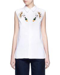 Stella McCartney | 'laure' Embellished Cotton Piqué Shirt | Lyst