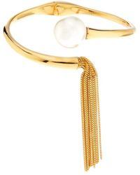 Ca&Lou - Inez Pearl And Gold-Plated Bracelet - Lyst