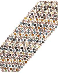 ABS By Allen Schwartz - Rose Goldtone Mesh Bead Bracelet - Lyst