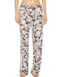 Calvin Klein Woven Pj Pants Simple Etching Print - Lyst