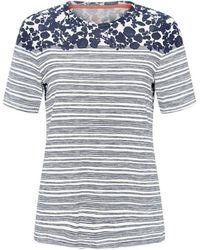 Tory Burch Issy Stripe T-Shirt - Lyst