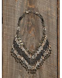 Free People Womens Vintage Fringe Bead Necklace - Lyst