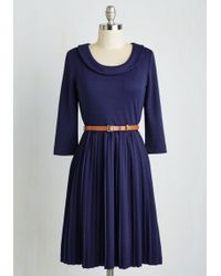 ModCloth | Presentation Perfection Dress In Cobalt | Lyst