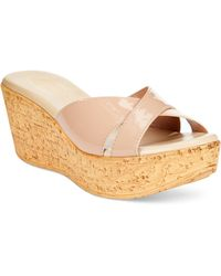 Callisto Chrissi Platform Wedge Sandals - Lyst