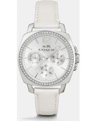 COACH - Boyfriend 34mm Stainless Steel Crystal Strap Watch - Lyst