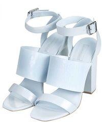 Topshop Roscha Croc-Effect High Sandals - Lyst