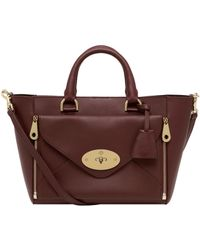 Mulberry - Willow Silky Calf Leather Tote - Lyst