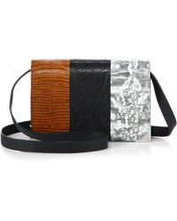 Alexander Wang Prisma Tricolor Embossed Envelope Crossbody Bag/Silvertone - Lyst