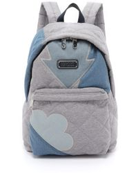 Marc By Marc Jacobs Crosby Quilt Denim Backpack - Pacific Ocean Chambray Multi blue - Lyst