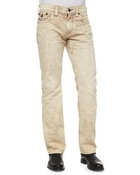True Religion Ricky Sand Stone Marbled Jeans - Lyst