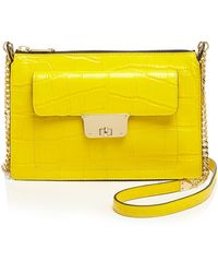 Milly Crossbody - Isabella Croc-Embossed Top Zip - Lyst