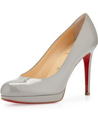 Christian Louboutin New Simple Patent Red Sole Pump - Lyst