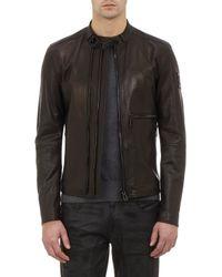 Belstaff Tumbled Leather Racer Jacket - Lyst