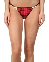 Betsey Johnson Slinky Knit Cheeky Thong - Lyst