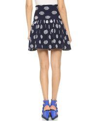 Kenzo Dots & Stripes Skirt - Navy - Lyst