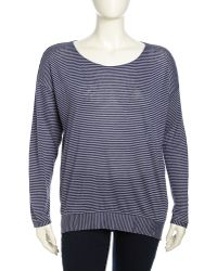 Eileen Fisher Dolman Striped Linen Sweater Northern Light Womens - Lyst