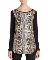 Karen Kane Python Print Jersey-knit Top - Lyst