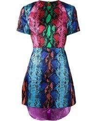 House Of Holland Snakeskin Print Dress - Lyst