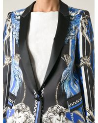 Roberto Cavalli Baroque Print Tuxedo Jacket - Lyst