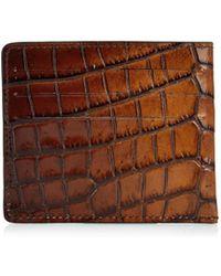 Tomas Maier - Crocodile-Effect Leather Cardholder - Lyst
