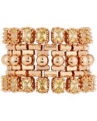 Eddie Borgo - Yellow Crystal Dome Cuff Bracelet - Lyst