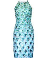 Mary Katrantzou Riley Jewelprint Satintwill Dress - Lyst
