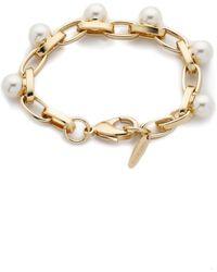 Joomi Lim - Dot And Dash Single Row Pearl Bracelet - Gold/Cream - Lyst