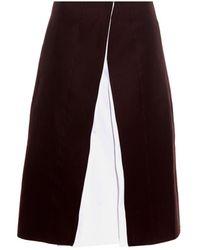 Jil Sander Teoria A-Line Cotton Skirt - Lyst
