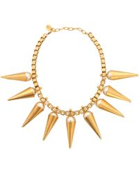 Ela Stone - Carla Plastron Necklace With Pearls - Lyst