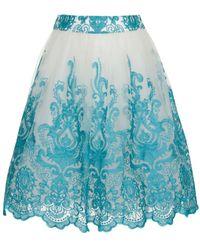 Chi Chi London | Baroque Midi Skirt | Lyst