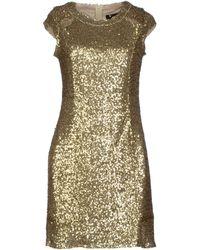 Cutie Gold Short Dress - Lyst