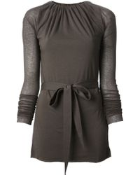 Rick Owens Lilies Gathered Belted Top - Lyst