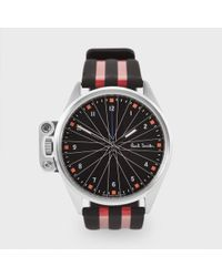 Paul Smith Black And Red Solar-Powered 'General Classification' Watch red - Lyst