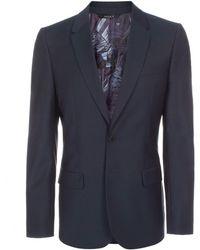 Paul Smith Petrol Blue Wool-Mohair Two-Button Blazer - Lyst