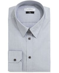 Versace City Fit Longsleeve Striped Poplin Dress Shirt - Lyst