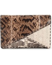 Bottega Veneta Geometric Paneled Clutch - Lyst