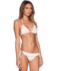 Eberjey Solid Waverly Bikini Top - Lyst