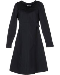 Jil Sander Black Knee-length Dress - Lyst