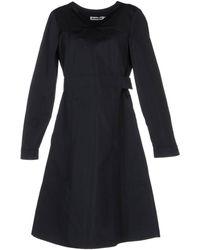 Jil Sander Black Knee-length Dress - Lyst