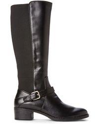 Franco Sarto Black Council Riding Boots - Lyst