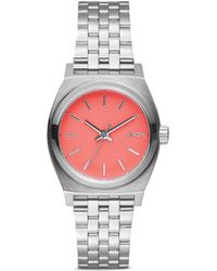 Nixon 'The Small Time Teller' Watch orange - Lyst