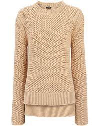 Joseph | Open Basket Weave Knit Sweater | Lyst