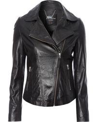 Jane Norman Leather Biker Jacket - Lyst