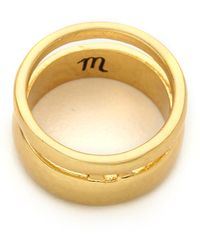 Madewell Double Ring Vintage Gold - Lyst