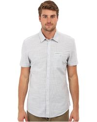 Calvin Klein Jeans Short Sleeve Heathered Slub Stripe Shirt - Lyst