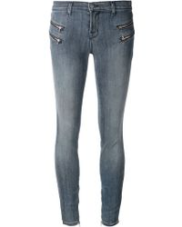 J Brand Blue Moto Jeans - Lyst