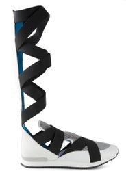Vionnet Crossed Strap Sneaker Boots - Lyst