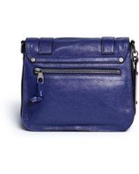 Proenza Schouler 'Ps1 Fringe Pouch' Leather Satchel blue - Lyst